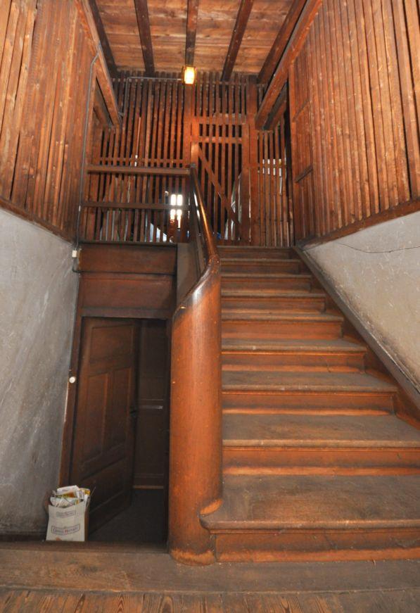 Estrich mit Treppenaufgang