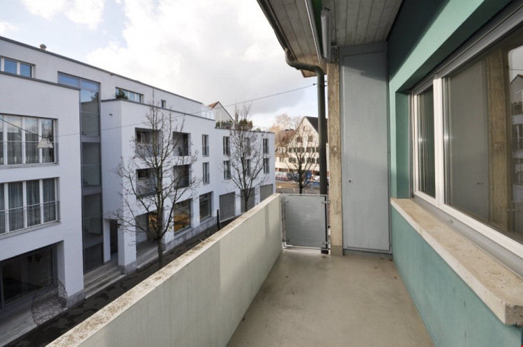Balkon beim Wohnzimmer