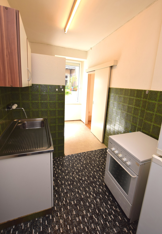 Küche der 1-Zimmerwohnung im Erdgeschoss