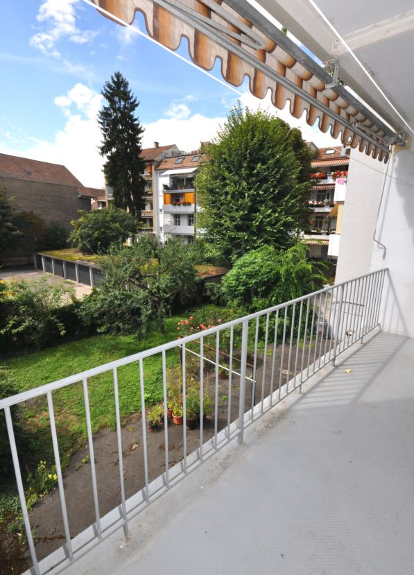 Balkon Gartenseite