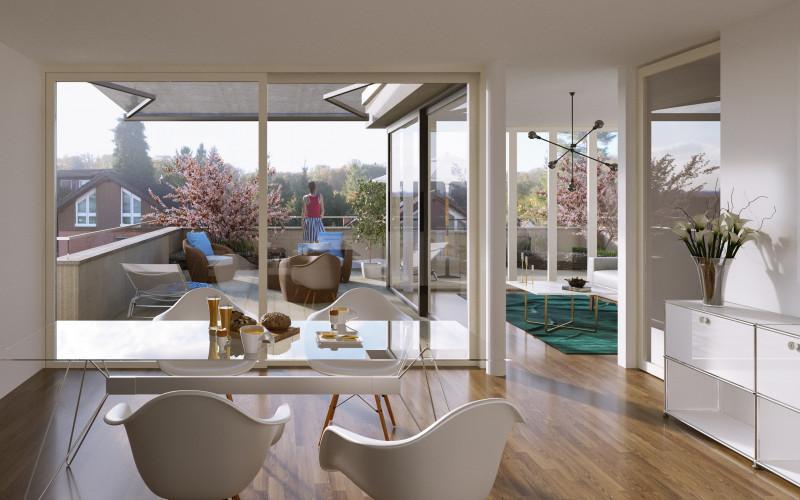 Visualisierung Wohnen/Küche