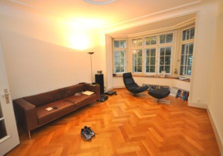 Wohnzimmer mit Erker